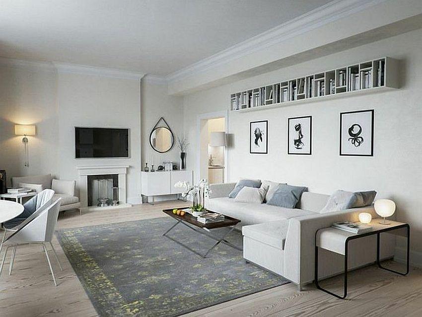 دکوراسیون منزل با رنگ سفید