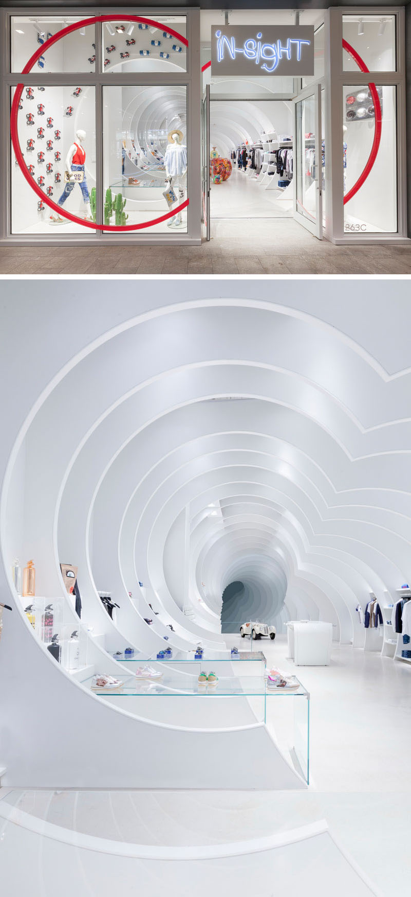 طراحی داخلی فروشگاه لباس