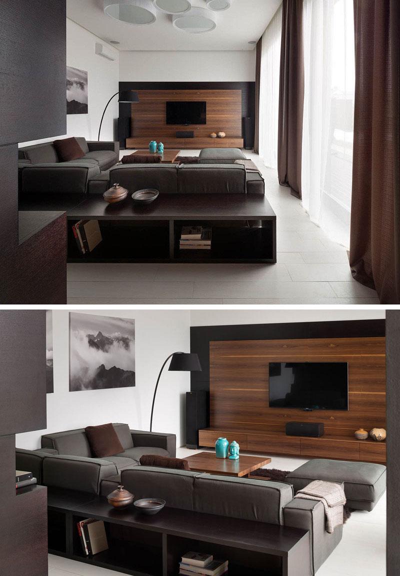 طراحی دکور دیوار پشت تلویزیون