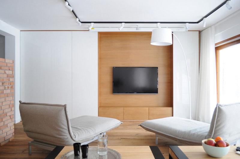 طراحی دیوار پشت تلویزیون با ام دی اف