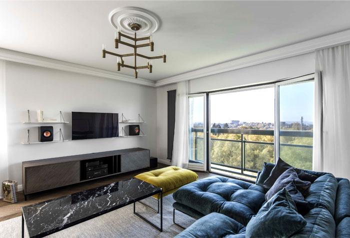 طراحی داخلی یک آپارتمان شیک و امروزی