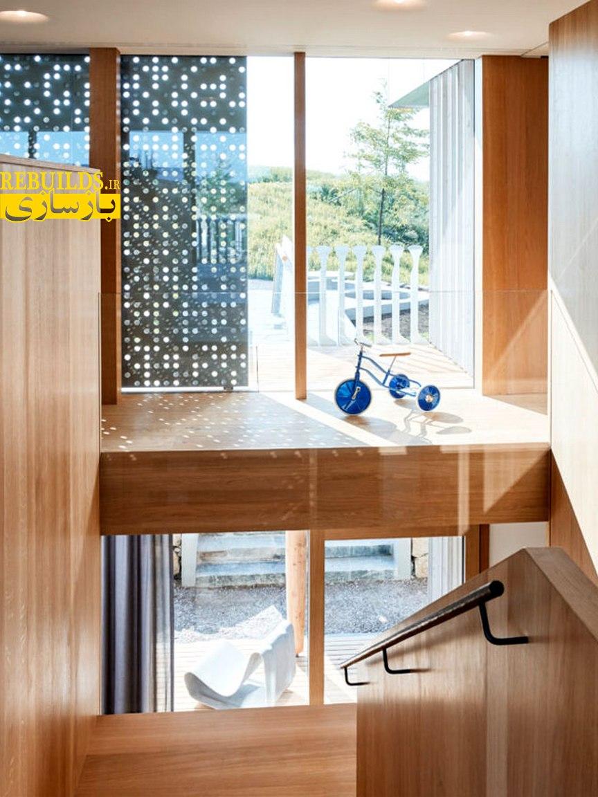 طراحی و بازسازی ویلا با چوب