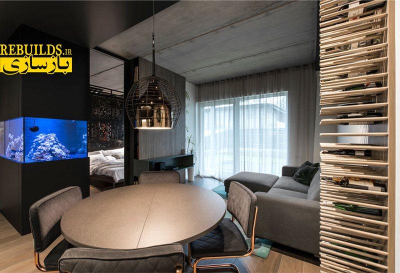 دکوراسیون داخلی خانه با رنگ های تیره