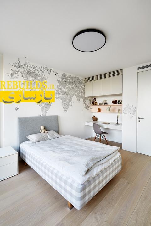 بازسازی و طراحی داخلی خانه دوبلکس و تریبلکس