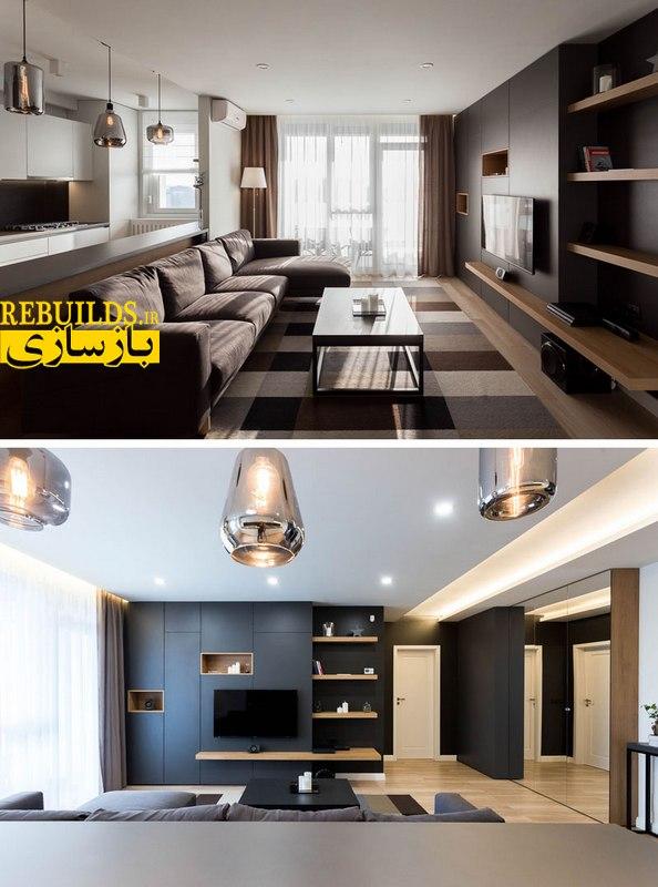 نورپردازی و طراحی داخلی آپارتمان
