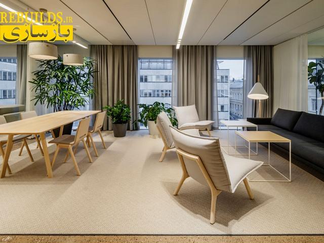 طراحی دکوراسیون داخلی ساختمان اداری