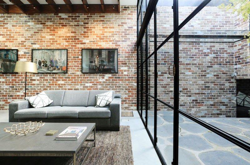 معماری با آجر منزل مسکونی