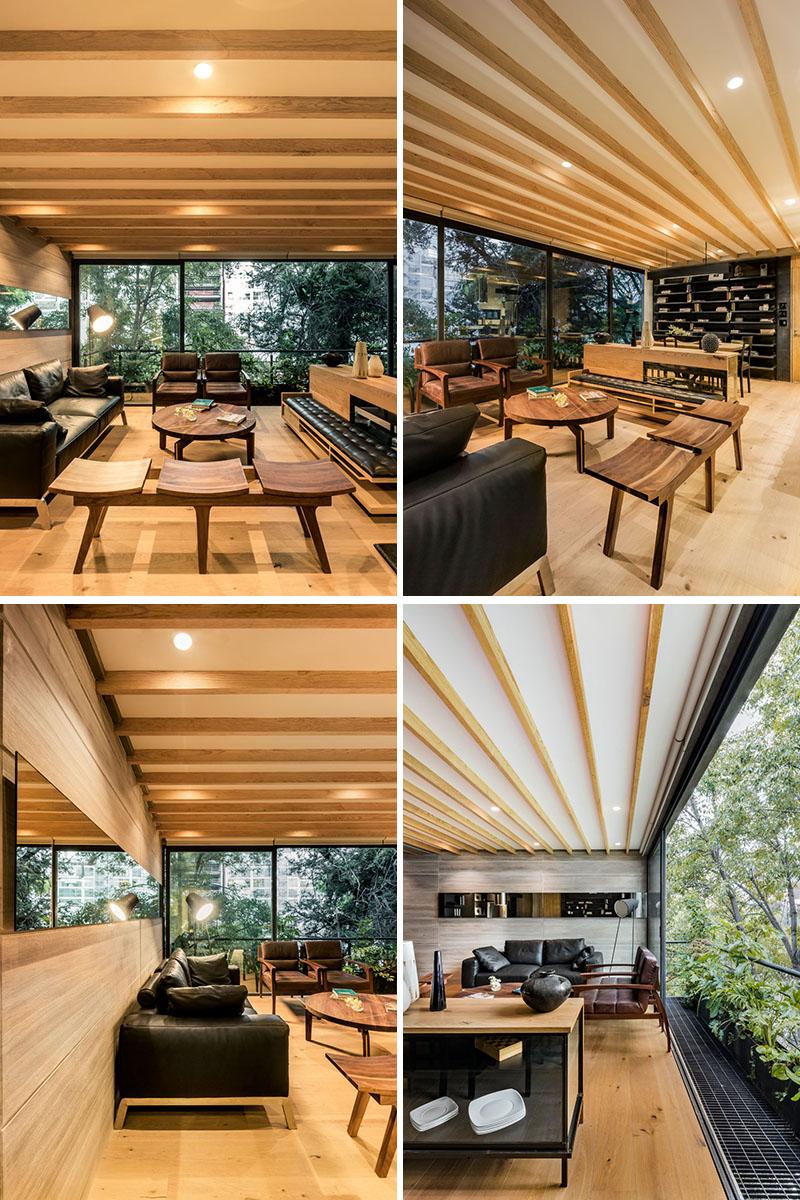 دکوراسیون خانه با چوب و رنگ مشکی