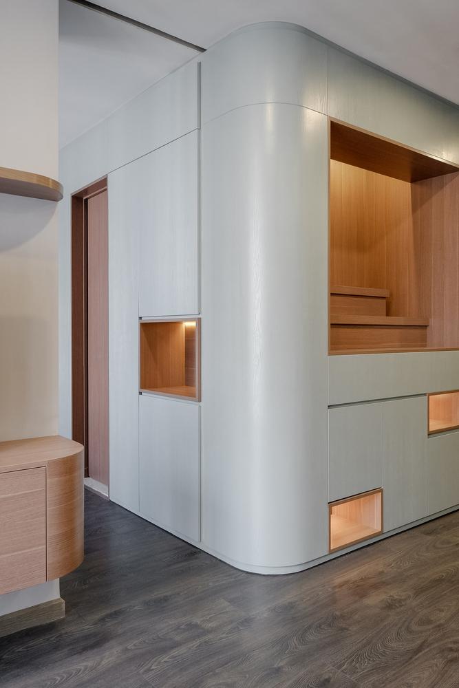 دیزاین فضای دو طبقه مسکونی
